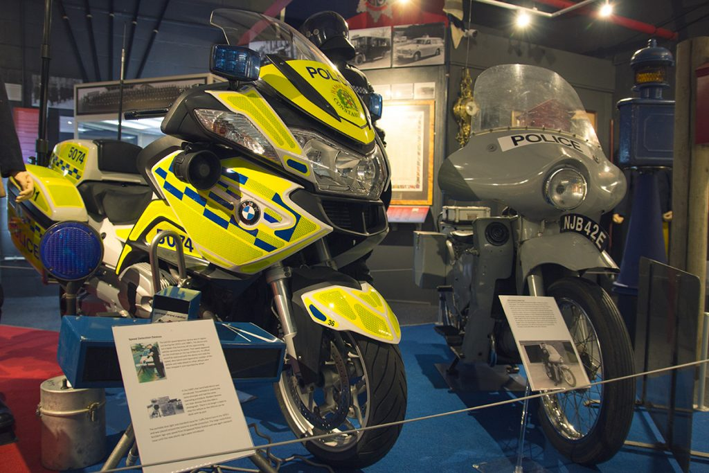 Hampshire Police motorcycle museum exhibit - Hampshire Police and Fire Heritage Trust Collection