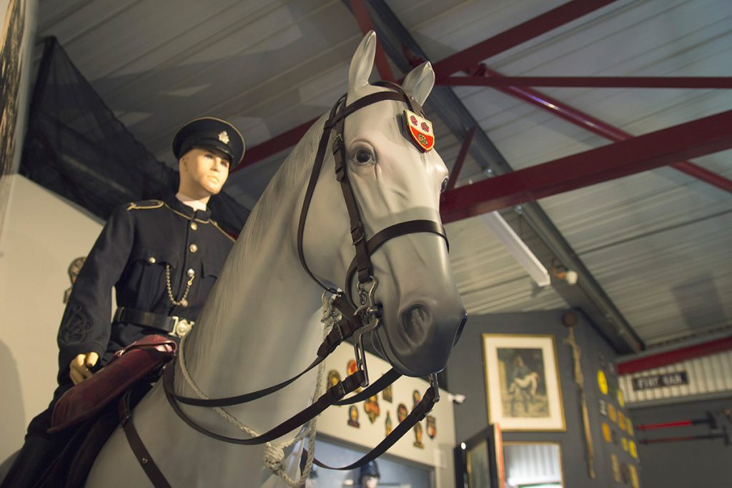 Officer on horseback exhibit - Hampshire Police and Fire Heritage Trust Collection