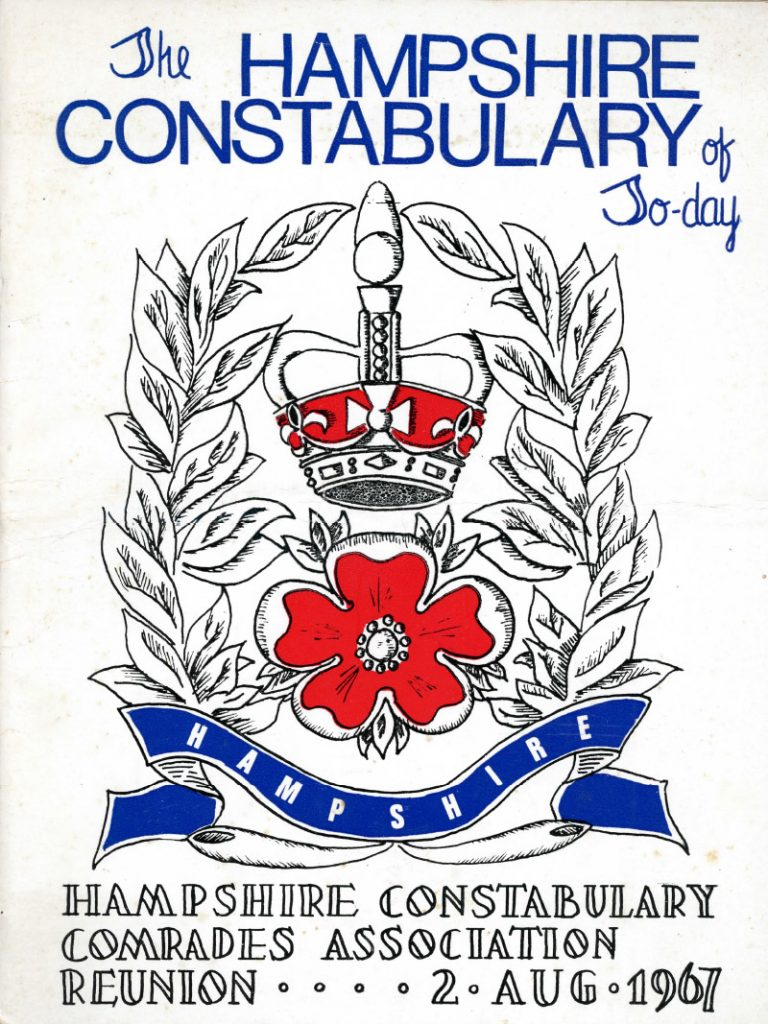 Cover of the Hampshire Constabulary Comrades Association Reunion 1967